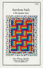 Rainbow Rails Quilt Pattern  (click to enlarge)