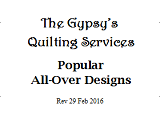 Popular All-Over Designs - 29 Feb 2016